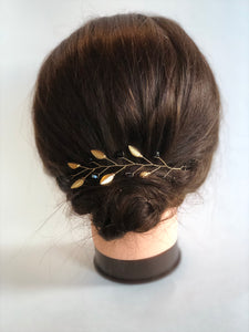HUFFLEPUFF Hair Vine | Harry Potter Wedding, Black & Gold Hair Accessories