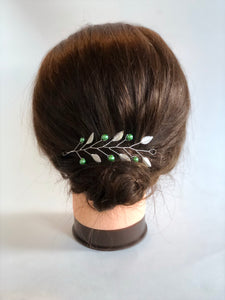 SLYTHERIN Hair Vine | Harry Potter Wedding, Silver & Green Hair Accessories