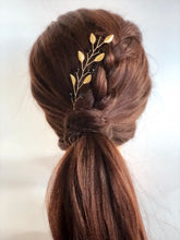 Load image into Gallery viewer, HUFFLEPUFF Hair Vine | Harry Potter Wedding, Black & Gold Hair Accessories