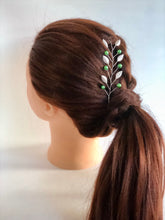 Load image into Gallery viewer, SLYTHERIN Hair Vine | Harry Potter Wedding, Silver & Green Hair Accessories