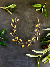 Load image into Gallery viewer, Simple Gold & Amethyst Crystal Braid Vine | Swarovski Crystal Hair Vine, Bridal Hair Wreath