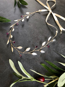 Silver & Amethyst Bridal Hair Vine for Short Hair | Crystal Headband, Hair Vine for Short Hair