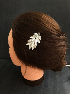 Fancy Pearl Hair Barrette | Metal Hair Barrette, Bridal Hair Clip, Pearl Vine Hairpiece