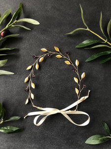 Gold & Amethyst Bridal Hair Vine for Short Hair | Crystal Headband, Hair Vine for Short Hair