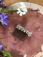 Load image into Gallery viewer, ABBY - Elegant Crystal & Faceted Freshwater Pearl Comb