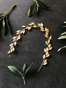 Classic Gold Boho Bridal Hair Vine | Festival Boho Braid Vine, Wedding Headband