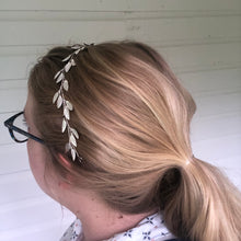 Load image into Gallery viewer, Classic Silver Boho Bridal Hair Vine | Festival Boho Braid Vine, Wedding Headband