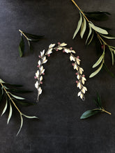 Load image into Gallery viewer, Silver & Light Rose Crystal Bridal Braid Vine | Pink Swarovski Crystal Hair Vine, Festival Vine