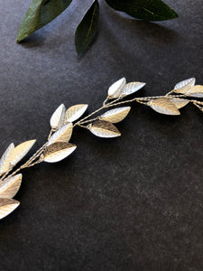 Classic Silver Boho Bridal Hair Vine | Festival Boho Braid Vine, Wedding Headband