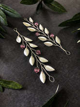 Load image into Gallery viewer, Silver & Light Pink Medium Braid Vine | Casual Updo Hair Accessories, Crystal Hair Vine