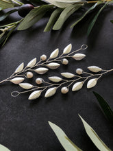 Load image into Gallery viewer, SILVER & Pearl Medium Braid Vine | Casual Updo Hair Accessories, Pearl Hair Vine, Hair Accessory