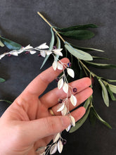 Load image into Gallery viewer, Silver & Amethyst Crystal Bridal Braid Vine | Purple Swarovski Crystal Hair Vine, Hair Wreath