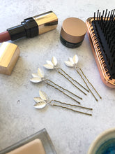 Load image into Gallery viewer, Classic Silver Updo Hair Pins (3+) | Silver Leaf Hair Pins, Minimalist Hair Accessories