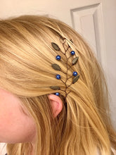 Load image into Gallery viewer, RAVENCLAW Hair Vine | Harry Potter Wedding, Bronze & Blue Hair Accessories