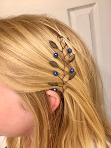 RAVENCLAW Hair Vine | Harry Potter Wedding, Bronze & Blue Hair Accessories