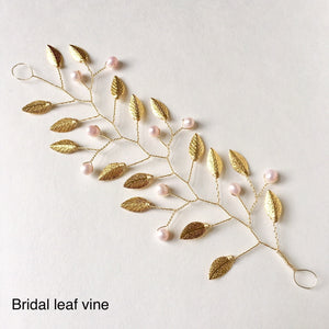 JULIEANNE - Blush Bridal Leaf Vine
