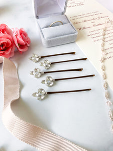 Crystal Bobby Pins (3+) | Casual Hair Accessories, Fancy Bobby Pins, Crystal Hair Accessory