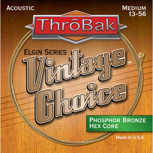 Vintage Choice Phosphor Bronze Hex Core Acoustic Guitar Strings