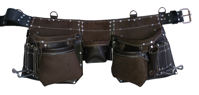 100% Leather Tool Belt/Apron - 401 Cadillac - Professional Quality