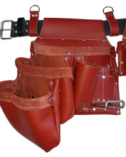 Load image into Gallery viewer, 100% Leather Framing Tool Belt/Apron - 601 Cadillac - Professional Quality