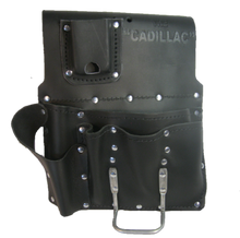 Load image into Gallery viewer, 8 Pocket Drywall 100% Leather Tool Pouch - Professional Quality