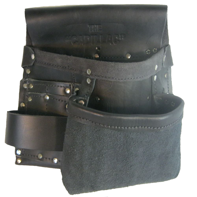 100% Leather Electrician's Tool Pouch - Half Cadillac - Professional Quality