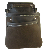 Load image into Gallery viewer, Triple Pocket 100% Leather Drywall Nail Pouch