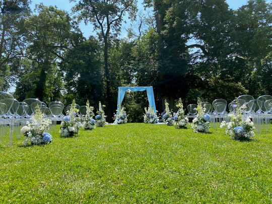 Wedding & flower decorations at Chateau Bon Repos