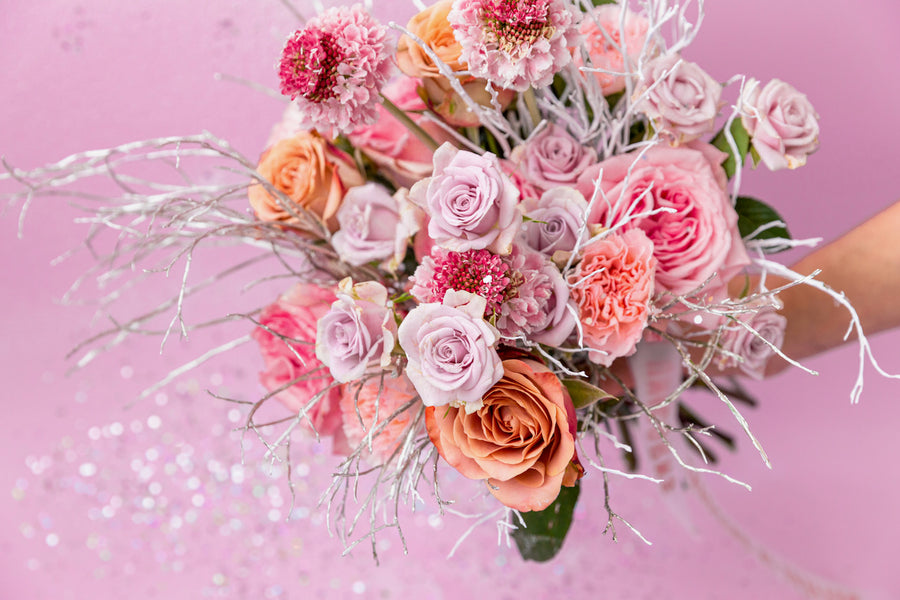 Winter romantic pink bouquet