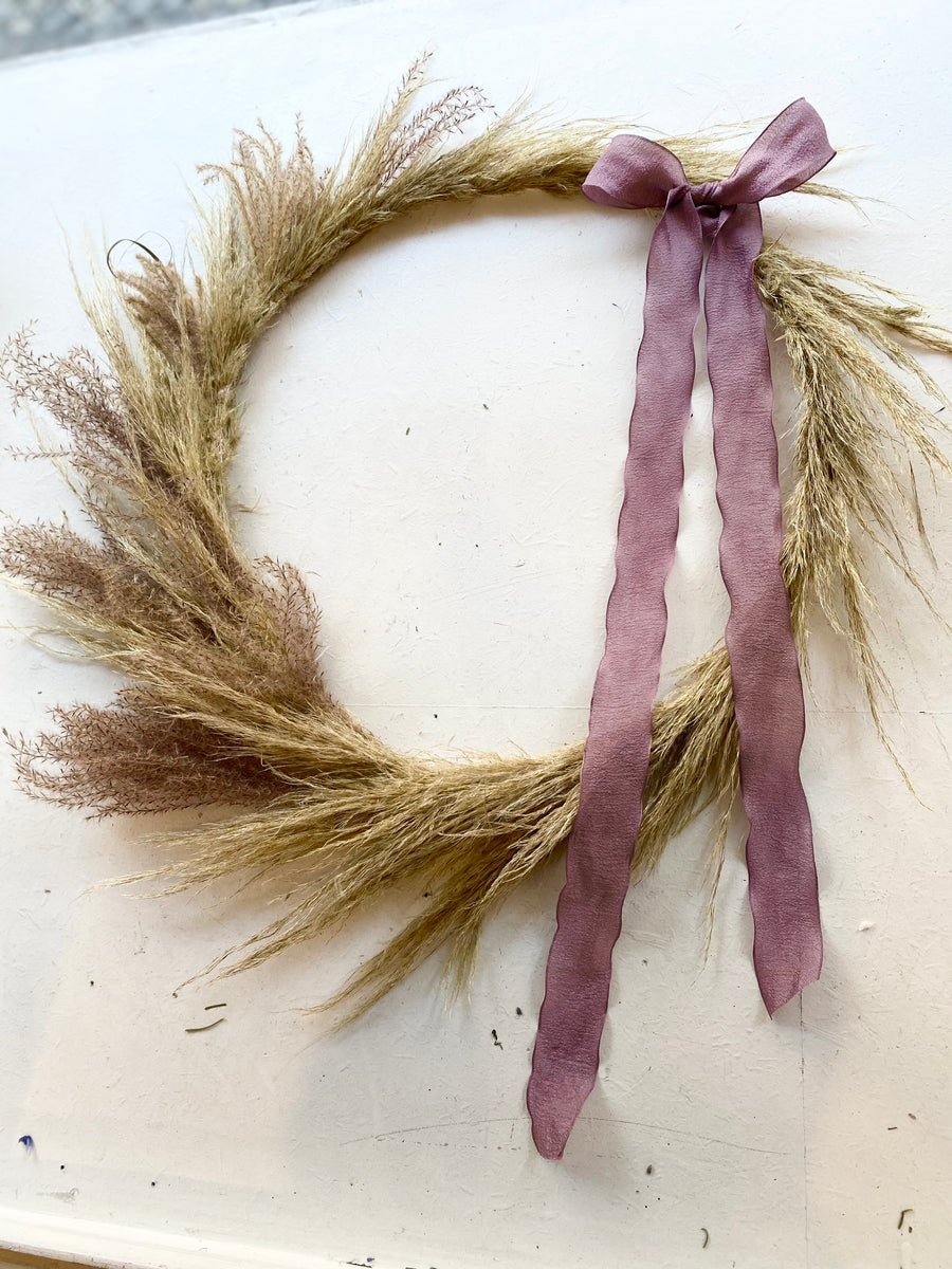Christmas wreath Natural Purple, ⌀50cm