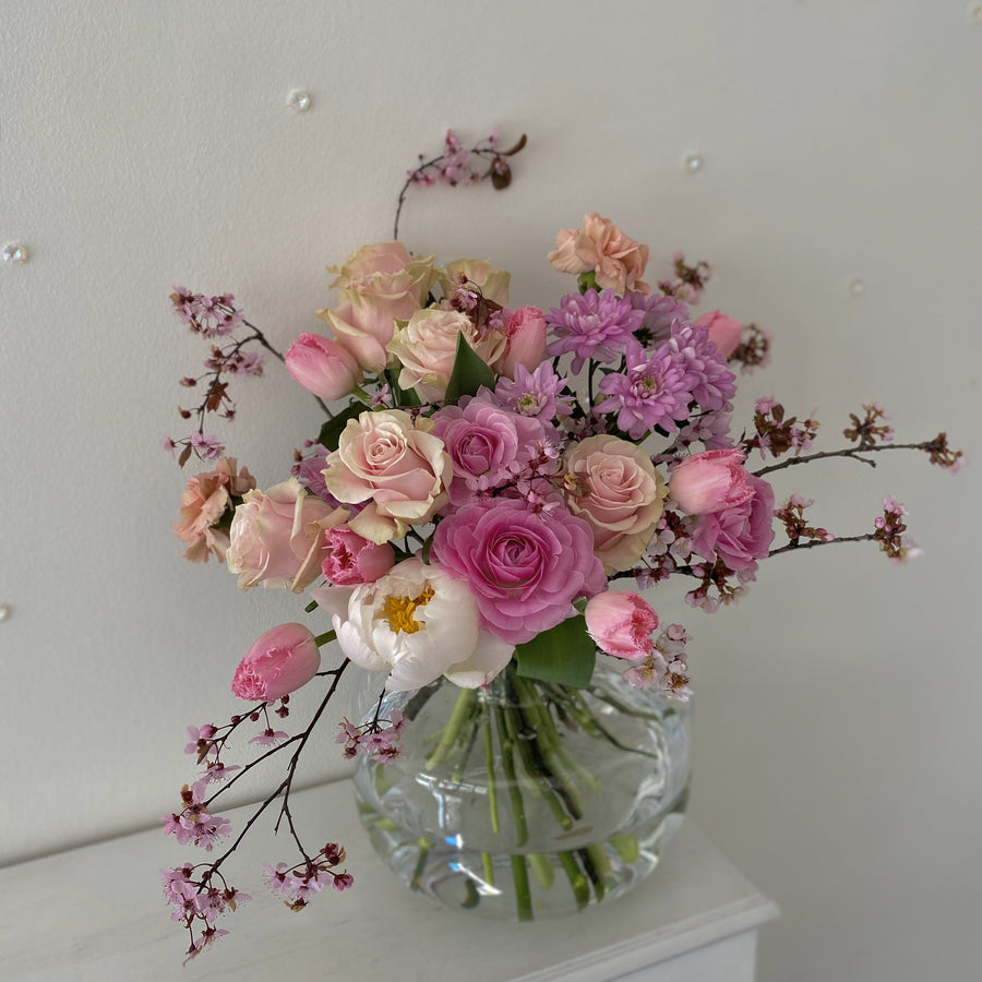 Pink seasonal bouquet