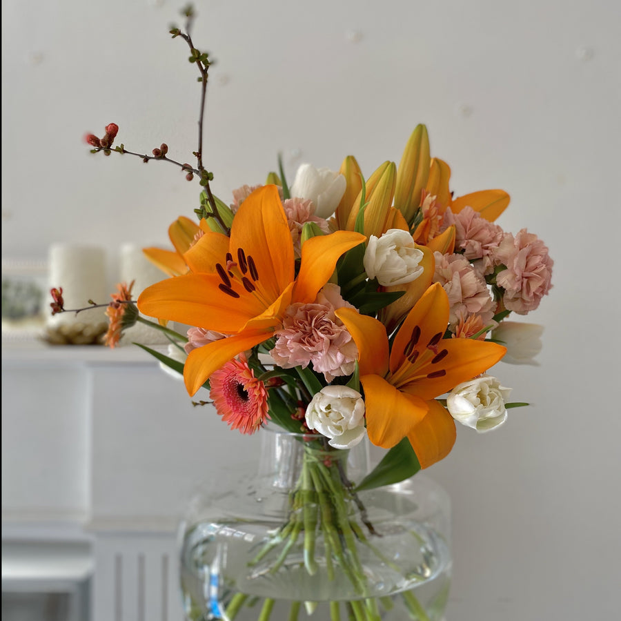 Orange seasonal bouquet