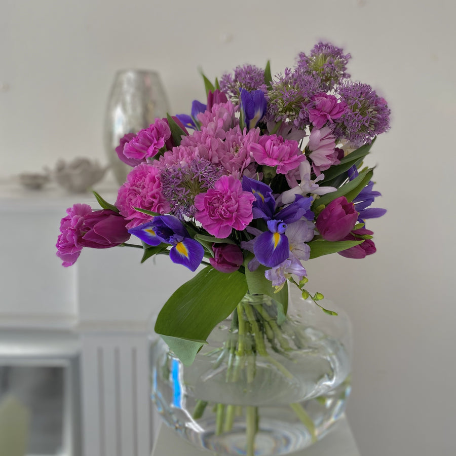 Purple seasonal bouquet