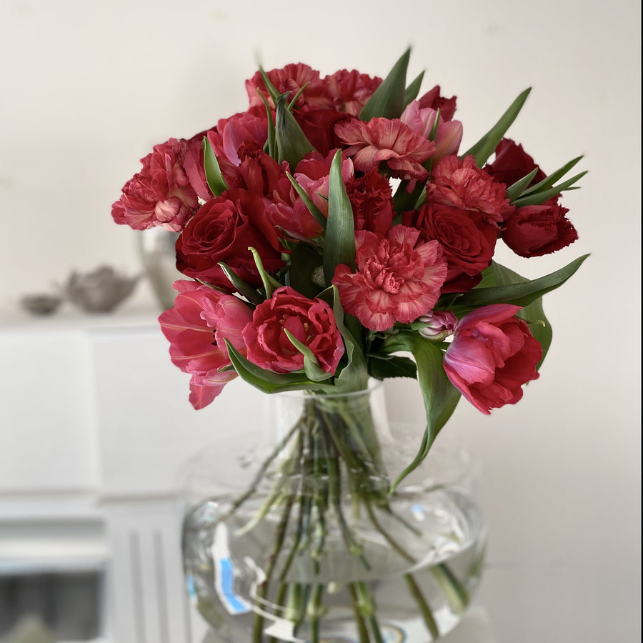 Red seasonal bouquet