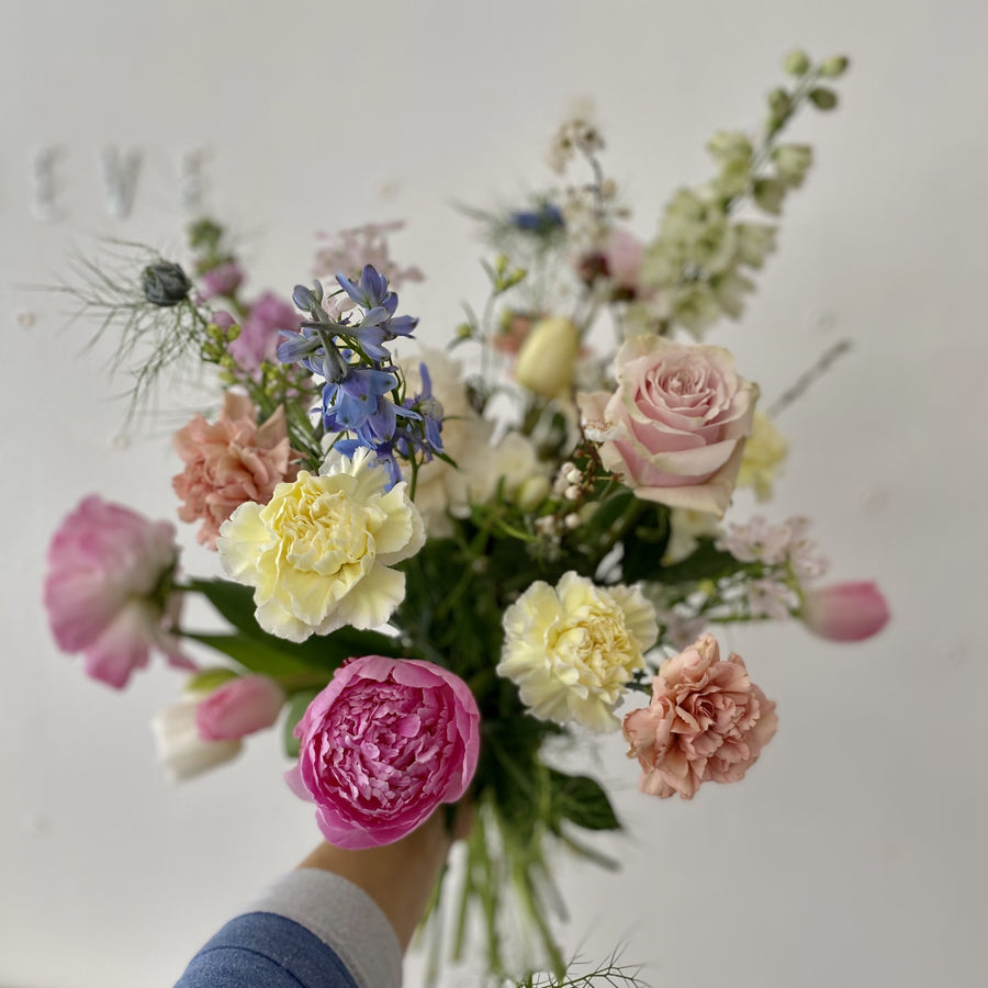 Pastel seasonal bouquet