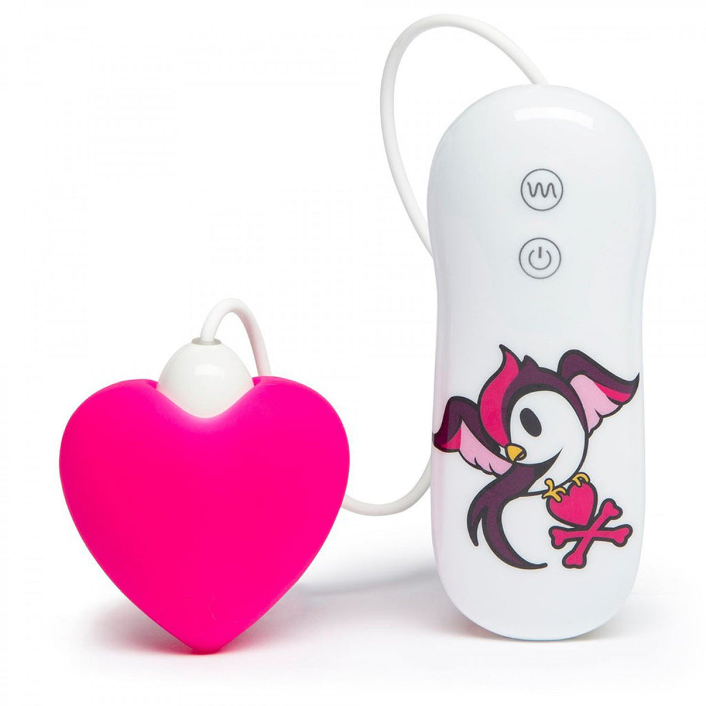 tokidoki 7 Function Silicone Pink Heart Clitoral Vibrator