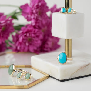 Boho Jewellery |  Statement rings. earings, necklaces and bracelets with semi-precious gemstones