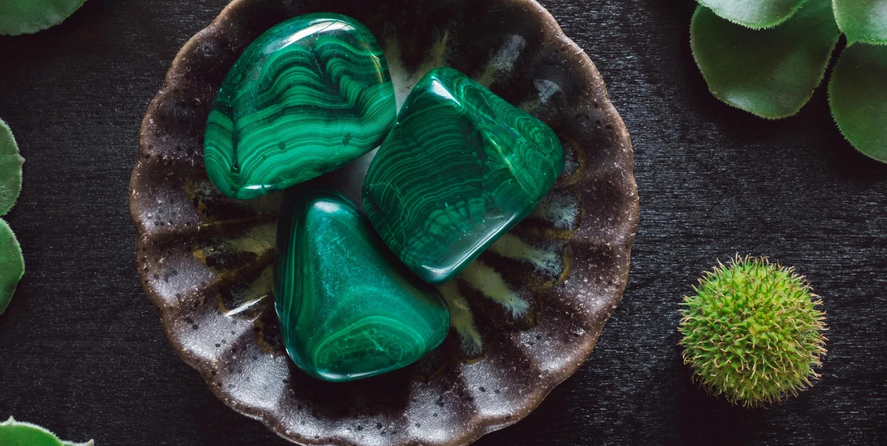 Malachite gemstone jewellery