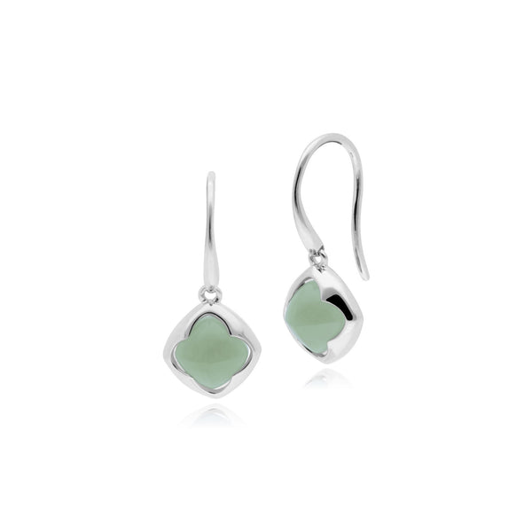 Geometric Jade Diamond Prism Drop Earrings Image 1