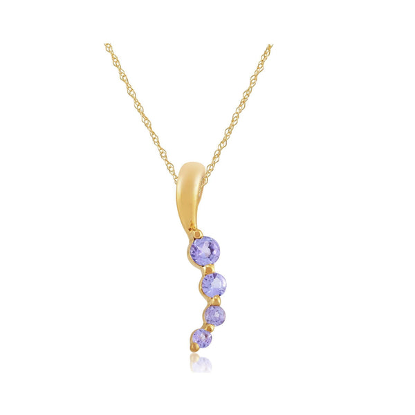 Modern Tanzanite Pendant on Chain Image 1