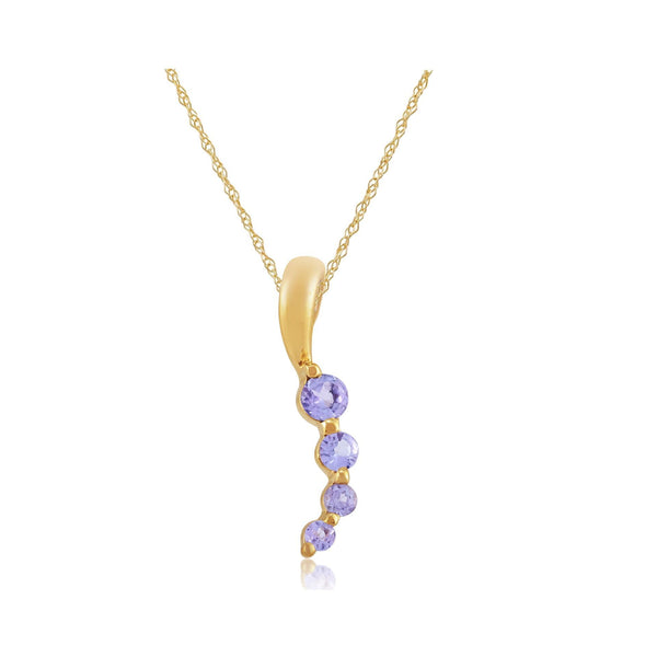 Modern Tanzanite Pendant on Chain Image 2