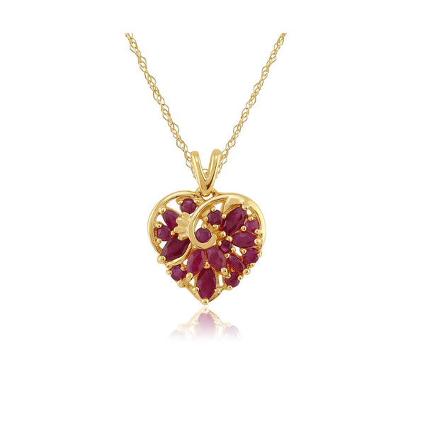 Classic Ruby Heart Pendant Image 1