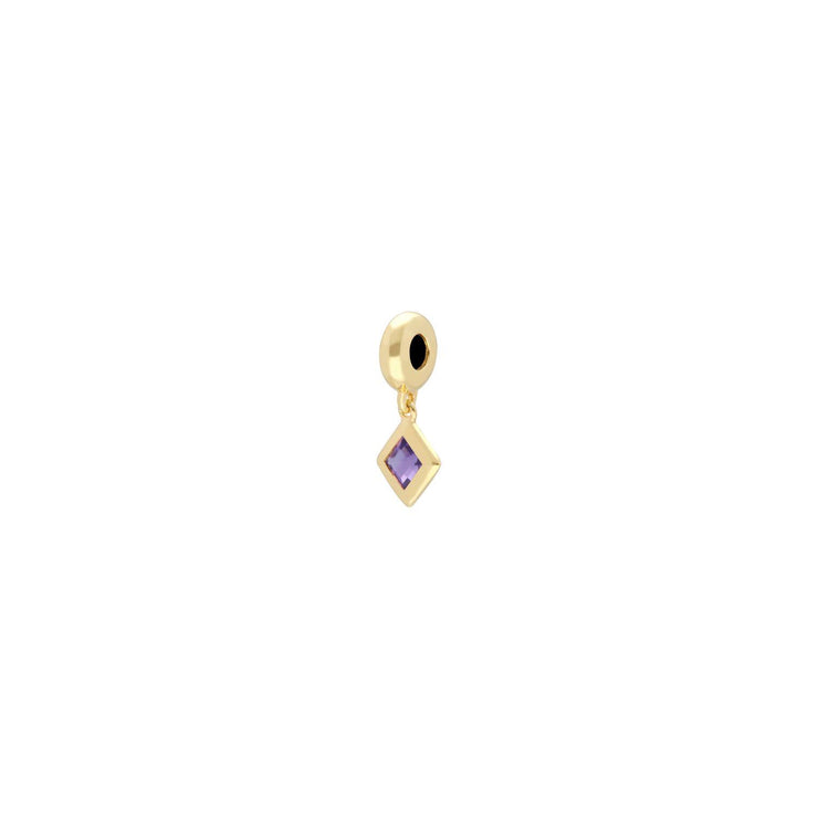 Achievement 'Stone of Power' Gold Plated Amethyst Charm