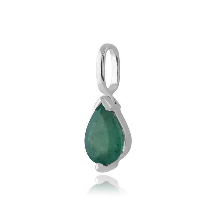 Classic Emerald Pendant on Chain Image 2