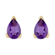 Classic Amethyst Stud Earrings Image 1