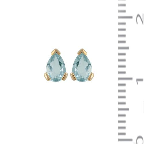 Classic Aquamarine Stud Earrings & Pendant Set Image 4
