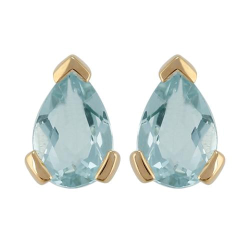 Classic Aquamarine Stud Earrings & Pendant Set Image 2