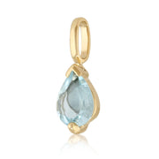 Classic Aquamarine Stud Earrings & Pendant Set Image 6