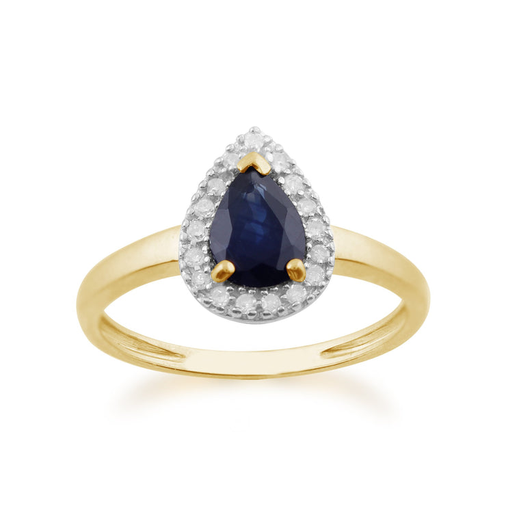 Pear Sapphire and Diamond Ring Image 1