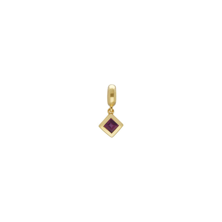 Achievement 'Visionary Stone' Gold Plated Rhodolite Charm